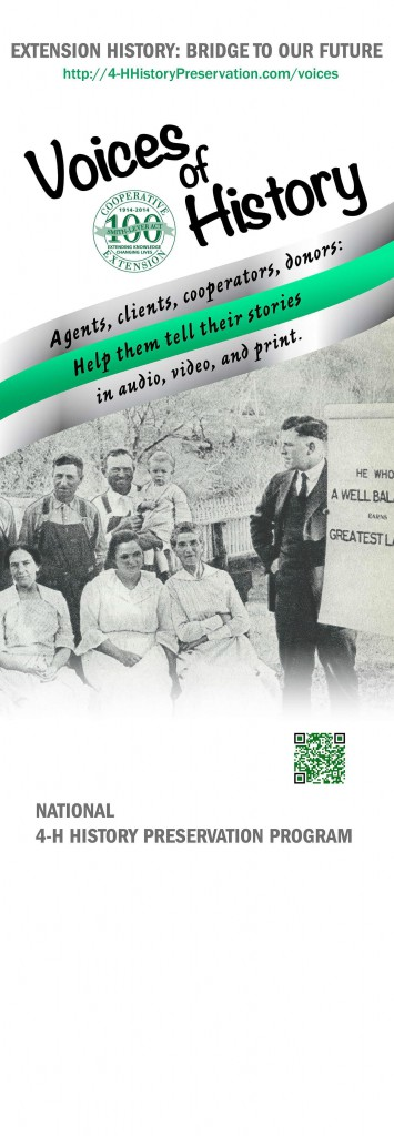Voice of 4-H History Poster