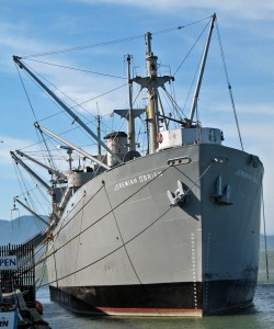 World War II Liberty ship SS Jeremiah O'Brien at Pier 45, Fisherman's Wharf, San Francisco, California