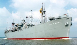 SS John W. Brown on the Great Lakes in 2000