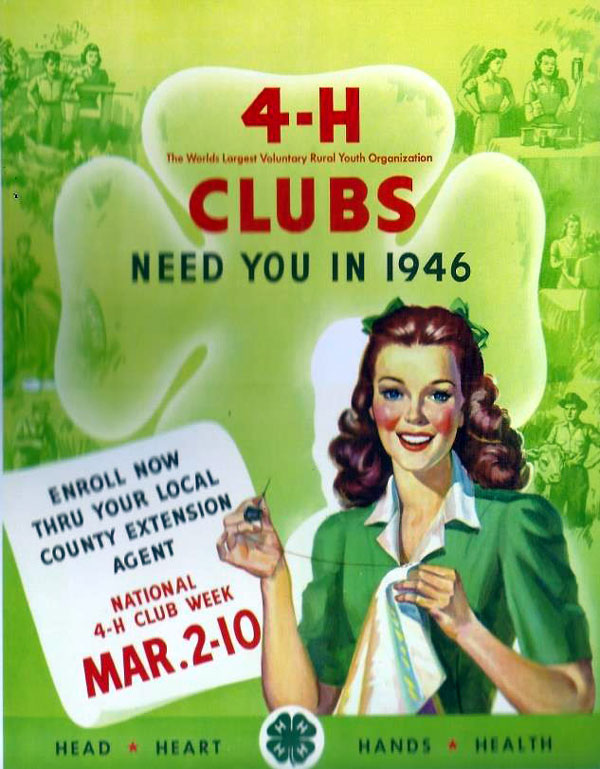 From 1946 through 1980 a new theme and new poster were introduced every year during National 4-H Week.