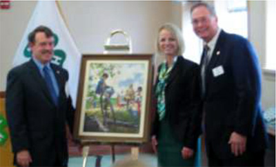 The newest calendar art painting in the National 4-H Collection features 4-H'ers in the very popular photography project.