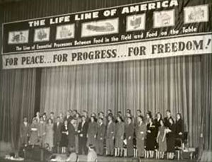 1950 returning IFYE delegates meet with the Grocery Manufacturers of America.