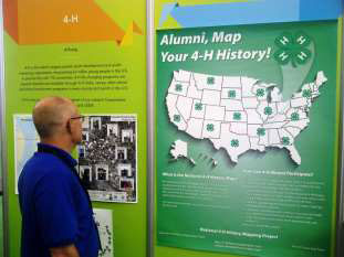4-H Alumni attending the Esri International Mapping Conference last month were encouraged to map their 4-H History.
