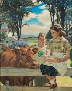 1951 4-H Calendar Art