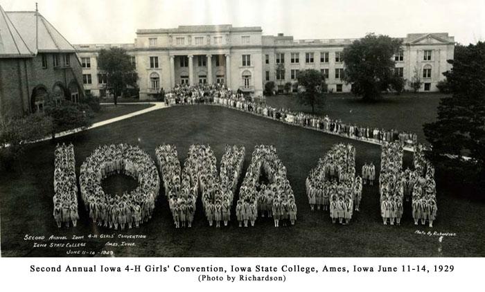 Iowa 4-H Girls' Convention, 1929