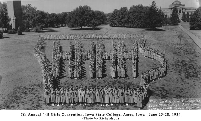 Iowa 4-H Girls' Convention, 1934