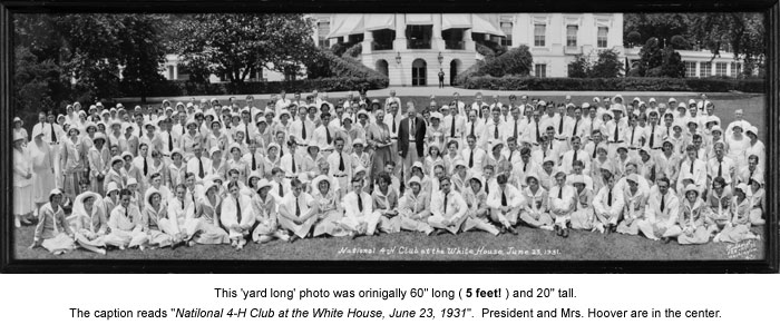 National 4-H Club at the White House, June 23, 1931