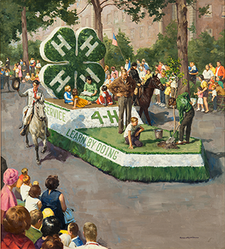 This 1968 National 4-H Calendar produced by Shaw Barton Calendar Company is an example of a 4-H float of yesteryear. What will we see on a 2016 4-H float?